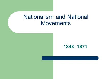 Nationalism and National Movements 1848- 1871. Nationalism Recall… 1830s: people began to recognize independent nations based on language, religion and.