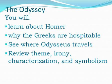 a review of odysseus travels 2008-4-12  odysseus, the warrior king, has been away from ithaca for twenty years the first ten he spent fighting the trojan war  0 of 0 people found this review helpful.