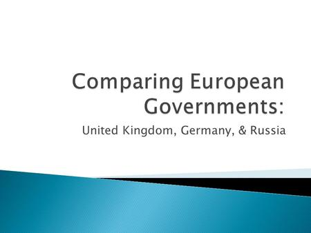 Comparing European Governments:
