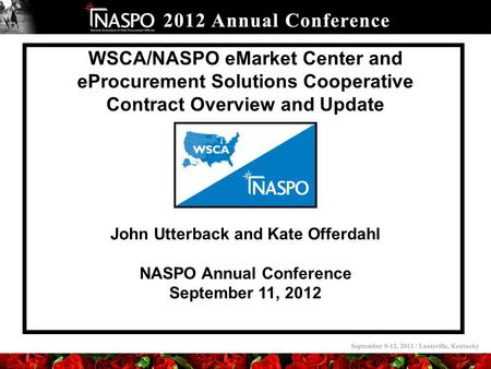 John Utterback and Kate Offerdahl NASPO Annual Conference
