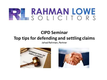 Top tips for defending and settling claims