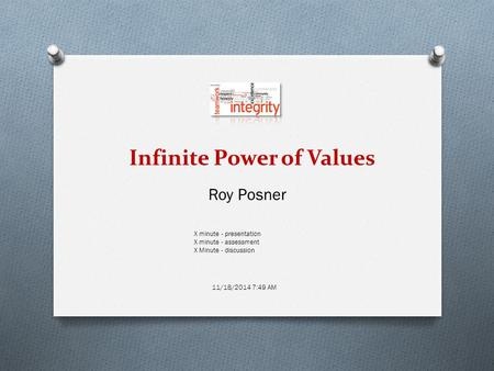 Infinite Power of Values