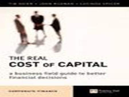 The chapter covers Meaning of cost of capital