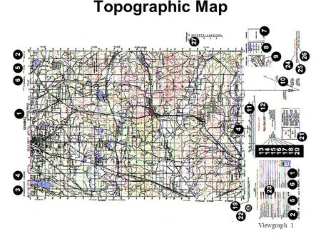 Viewgraph 1 Topographic Map 4 13141516171820 21 1 6 5 2 19 23 12 11 10 9 8 7 24 25 26 27 1 4 3 6 5 2 22.