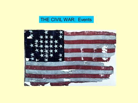 THE CIVIL WAR: Events. What is secession? ANSWER! Formal withdrawal of states from the Union.