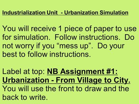 essay on industrialization and urbanization Urbanization essays: order plagiarism free custom written essay urbanization resulted from and contributed to industrialization.
