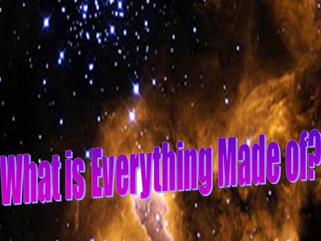 "MPL1203 Everything. Early Postulates What is everything (Matter)made of? Greek Mythology –Fire, Air, Water, Earth Aristotle in ""Metaphysics""----- The."