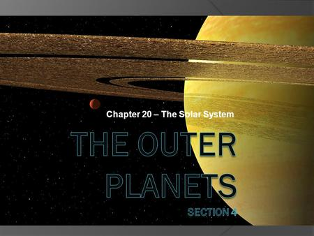 Chapter 20 – The Solar System. Facts and Pictures From