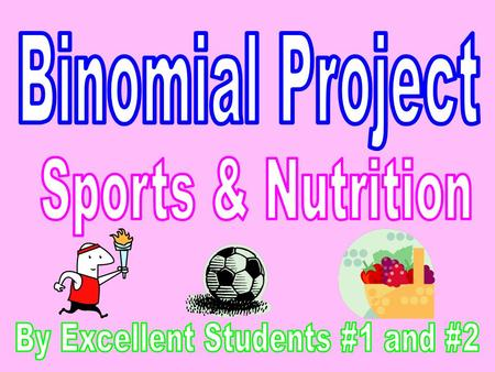 - For our project, we decided to have a survey about sports and nutrition because we wanted to see how many students do take care of their body. - We.