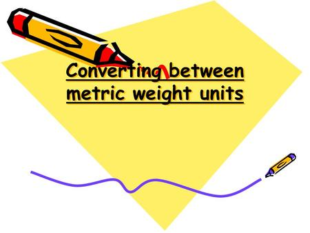 Converting between metric weight units. Converting metric weights How many mg to 1 g? How many g to 1 kg? How many kg to 1 t? 1000 mg = 1 g 1000 g = 1.