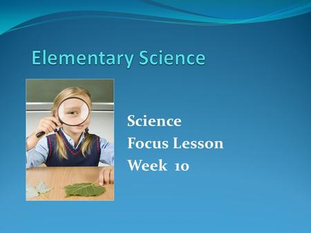 Science Focus Lesson Week 10