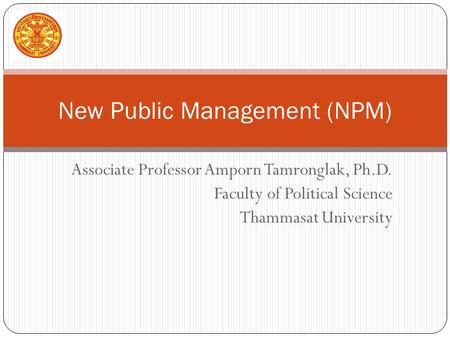 New public management approach