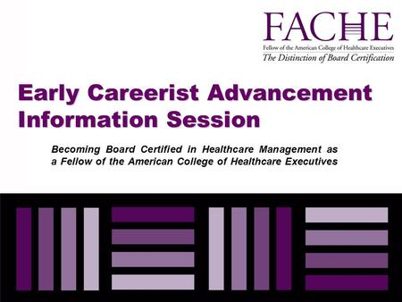Early Careerist Advancement Information Session
