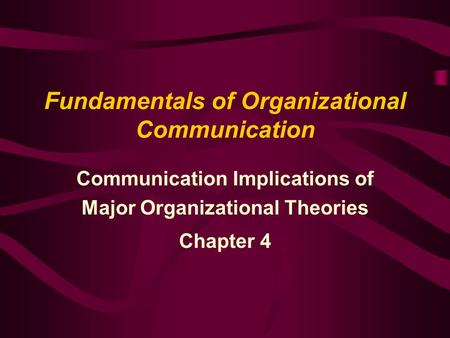 classical approach to organizational communication 7 classical management scalar chain – strict vertical hierarchy unity of command – receive orders from only one supervisor unity of direction – similar goals.