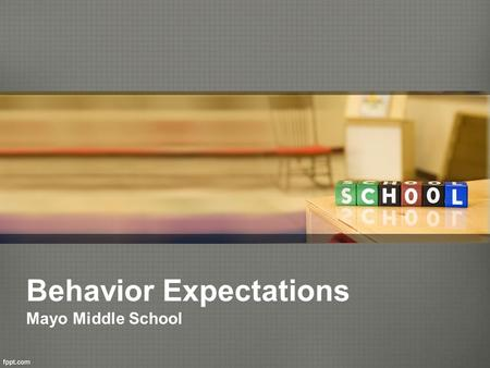 Behavior Expectations Mayo Middle School. Redbird Pride Program Redbird Level Red Level White Level Off Level.