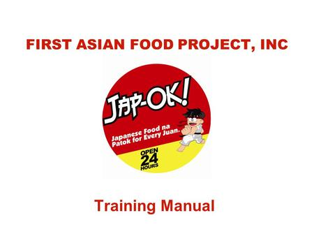 FIRST ASIAN FOOD PROJECT, INC