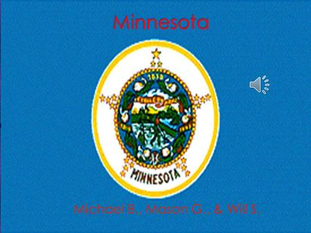 " The nickname for Minnesota is ""The Gopher State.""  The region is the Midwest.  The capital city is St.Paul  Three major cities are: St.Cloud, Coon."