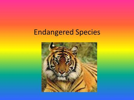 Endangered Species. Endangered Species Act Nothing is more priceless and more worthy of preservation than the rich array of animal life with which our.
