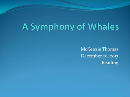 McKenzie Thomas December 20, 2013 Reading. Pygmy Bryde's Whale The Scientific name for Brydes whale is Balaenoptera edeni. Bryde's (pronounced broodus)