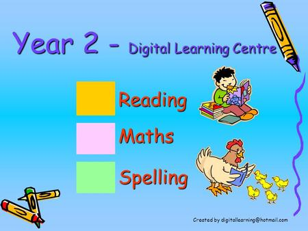 Year 2 - Digital Learning Centre Maths Reading Spelling Created by