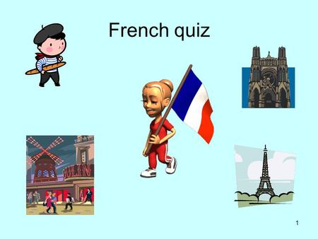 French quiz.
