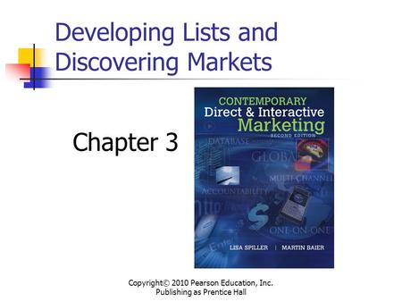 Developing Lists and Discovering Markets
