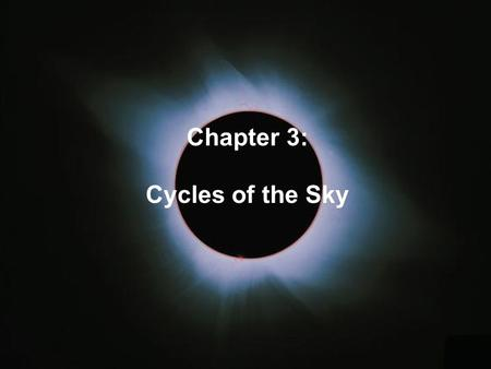 Cycles of the Sky Chapter 3:. The Annual Motion of the sun Due to Earth's revolution around the sun, the sun appears to move through the zodiacal constellations.