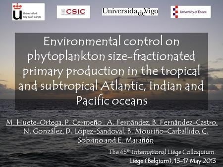 Environmental control on phytoplankton size-fractionated primary production in the tropical and subtropical Atlantic, Indian and Pacific oceans The 45.