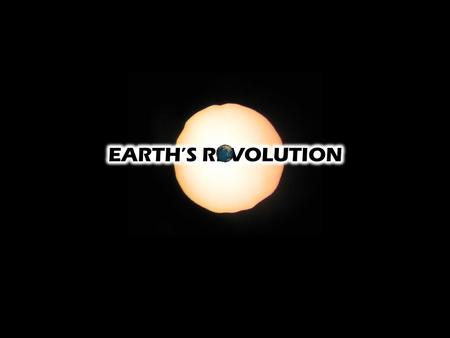 Earth's Revolution Earth revolves around the sun in a slightly eccentric elliptical path once a year  Ellipse ~ Oval  It takes Earth 365.25 days to.