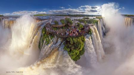 Iguazu Falls, Argentina These are the stunning panoramic shots of some of the worlds most beautiful locations. Company AirPano travel the world photographing.