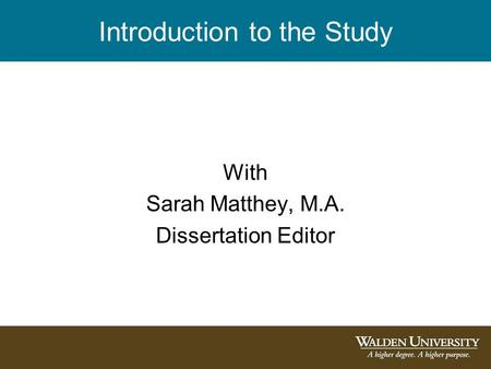 dissertations from walden university