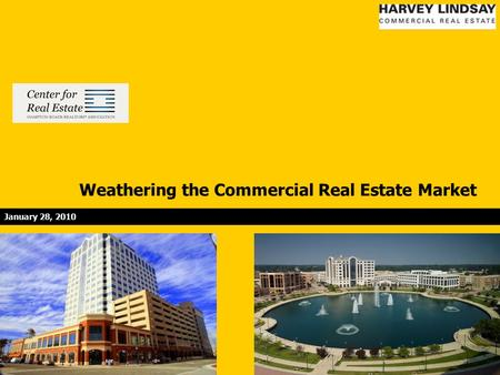 Weathering the Commercial Real Estate Market January 28, 2010.
