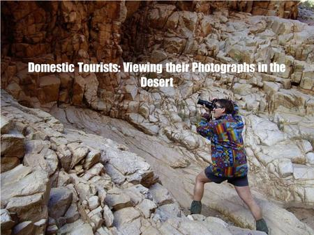 Domestic Tourists: Viewing their Photographs in the Desert.
