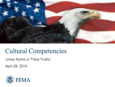 Cultural Competencies Urban Myths or Tribal Truths April 29, 2014.