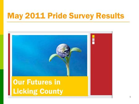 1 May 2011 Pride Survey Results Our Futures in Licking County.