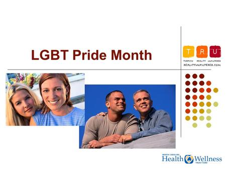 LGBT Pride Month. What does LGBT stand for? LGBT refers to members of the lesbian, gay, bisexual, and transgender community.