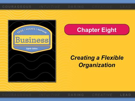 Chapter Eight Creating a Flexible Organization. Copyright © Houghton Mifflin Company. All rights reserved.8 - 2 What Is an Organization? A group of two.