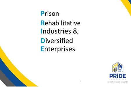 P rison R ehabilitative Industries & Diversified Enterprises 1.