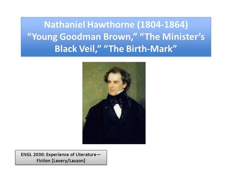 an analysis of allegories in young goodman brown by nathaniel hawthorne In nathaniel hawthorne's short story young goodman brown, the author uses mystery and suspense to hold the attention of the reader from the beginning to the end of the story, hawthorne leads the reader into asking the question, what does all of this witchcraft, mysticism, and the double-sided lifestyles of the characters actually mean.