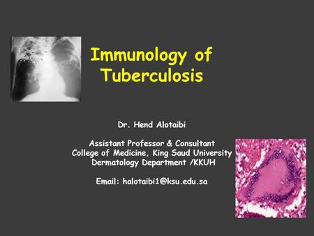 Immunology of Tuberculosis
