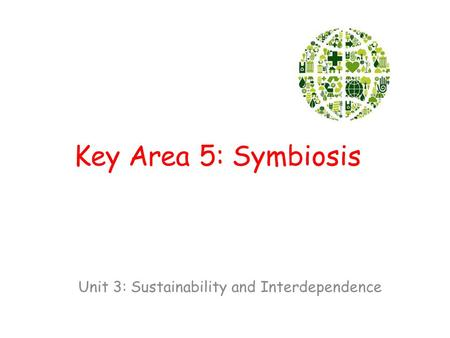 Unit 3: Sustainability and Interdependence