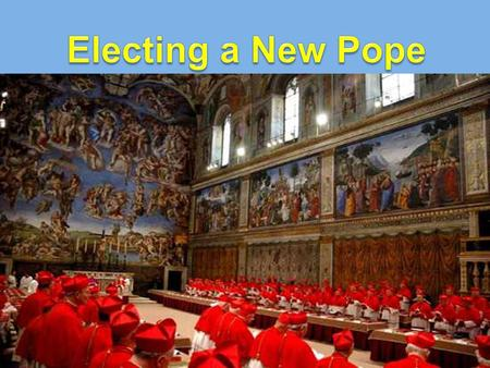 The Pope is a central figure in World Religion. He is: the leader of the Roman Catholic Faith across the world the Bishop of Rome the descendant of.
