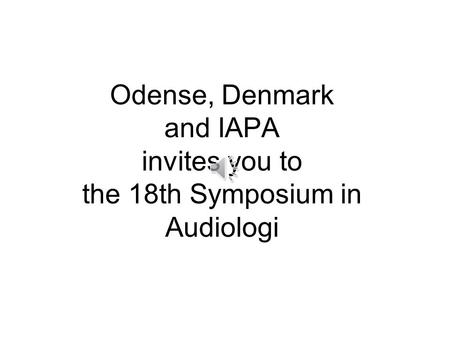 To take place in the heart of Fairytale country,  in Odense, Denmark, 6th-8th of Oct. 2016