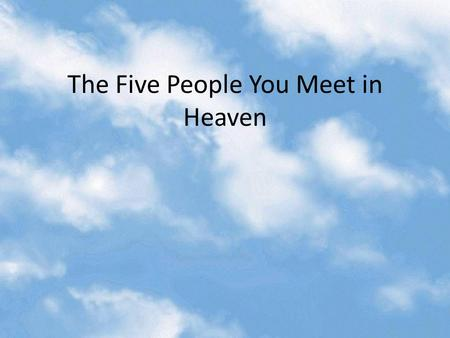five people you meet in heaven essay questions The five people you meet in heaven study guide contains a biography of mitch albom, literature essays, quiz questions, major themes, characters, and a full summary and analysis.