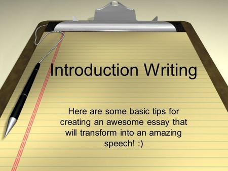 Essay Introductions Samples