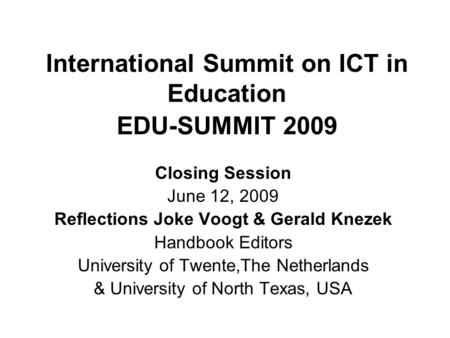 reflection on ict eduction Fostering reflection in ict-based reflection, learning design, ict  ministry for education, to help teachers learn about ict-based tools and resources.
