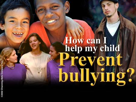 Agenda The problem of bullying Social skills for all young people If your child is being bullied If your child is bullying others What else you can do.