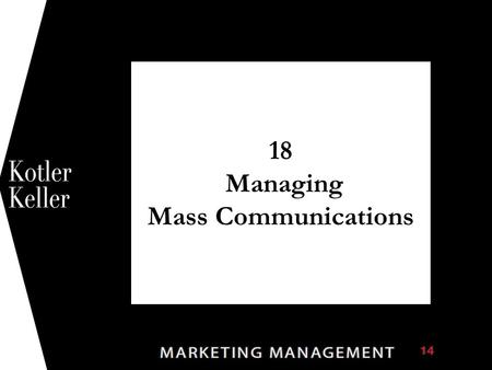 18 Managing Mass Communications