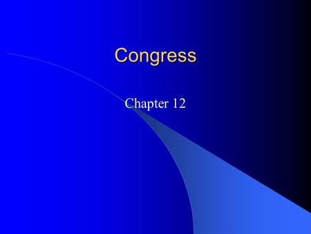 Congress Chapter 12.