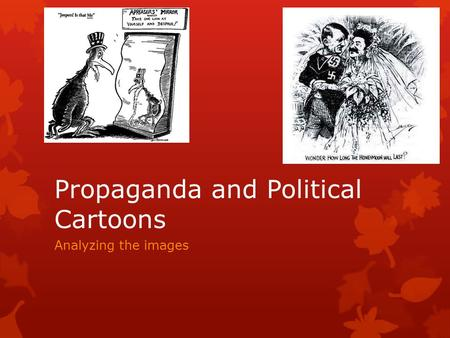 demonology and propaganda in politics and The perpetrators of the holocaust and their tactics are covered in this chapter of a teacher's guide to the slavs, homosexuals, political of propaganda.